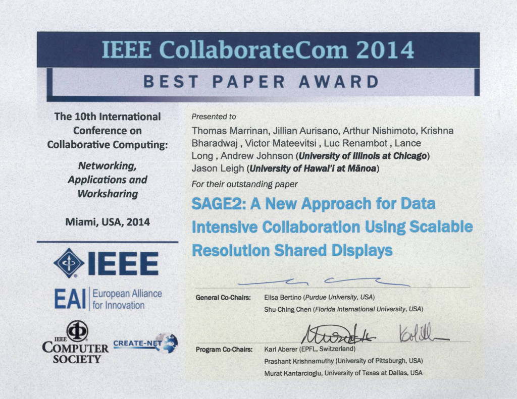 CollaborateCom 2014 - Best Paper
