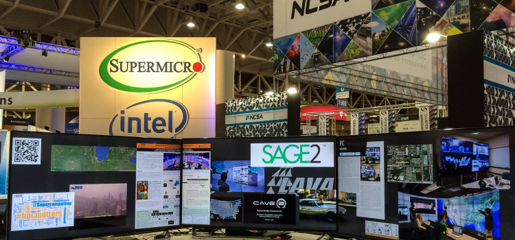 EVL and LAVA demonstrate SAGE2 at SC'14 in the NCSA booth