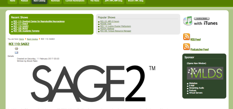 SAGE2 Featured on Research Computing and Engineering Podcast