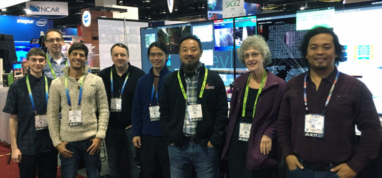 SAGE2 @ SC17: Demonstrations, Birds of a Feather, and SCinet Participation